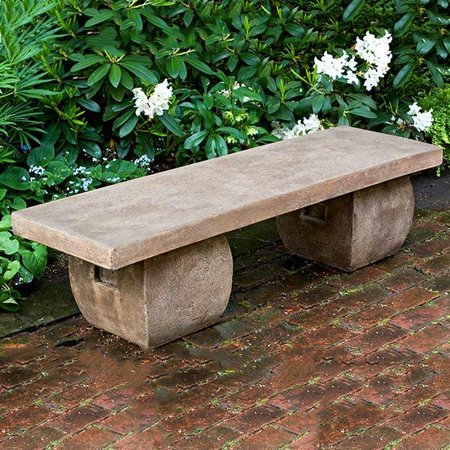 Phenomenal Ryokan Cast Stone Outdoor Garden Bench Walmart Com Inzonedesignstudio Interior Chair Design Inzonedesignstudiocom