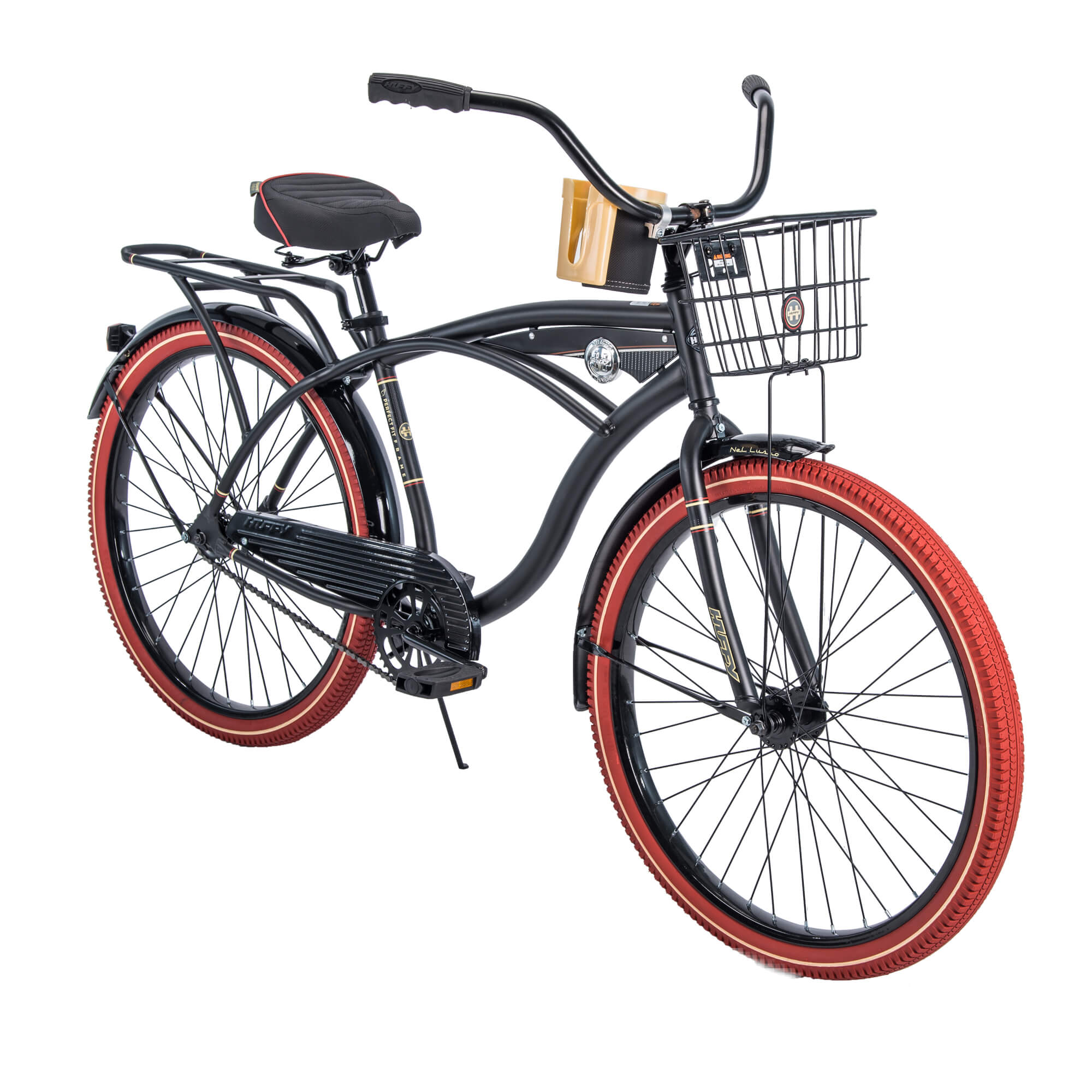 "Huffy 26"" Men's Nel Lusso Cruiser with Perfect Fit Frame Bike, Black by Huffy"
