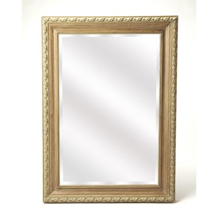 Fleur De Lis Living Dimmick Weathered Wood Wall Mirror