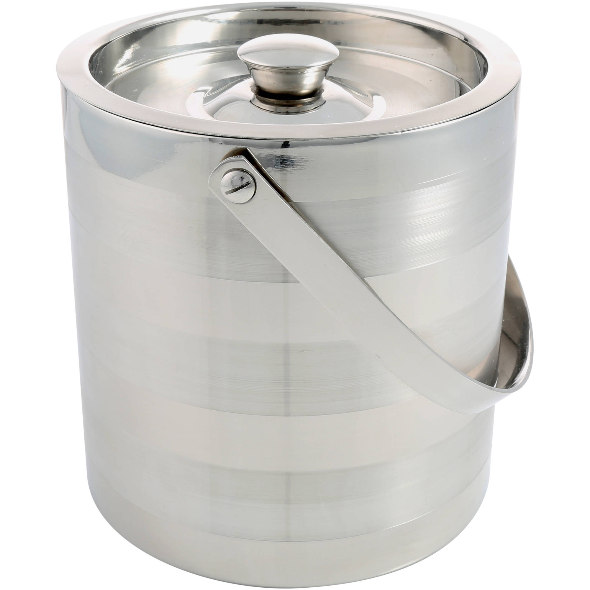 Cambridge Ellison Satin Stripe D W 3 qt Ice Bucket by Cambridge