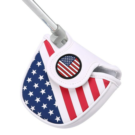 HDE Mallet Putter Cover with Magnetic Closure 2 Ball Leather Headcover Club Protector for Odyssey Taylormade Scotty Cameron Tommy Armour Ping and Callaway Clubs (USA