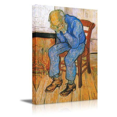 wall26 - Sorrowing Old Man (At Eternity's Gate), 1890 by Vincent Van Gogh - Canvas Print Wall Art Famous Oil Painting Reproduction - 12
