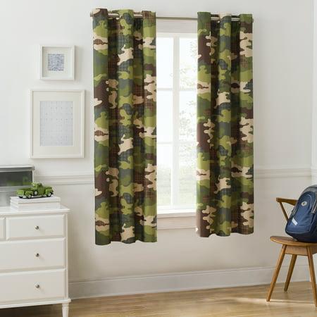 Mainstays Kids Camouflage Boys Room Darkening Bedroom