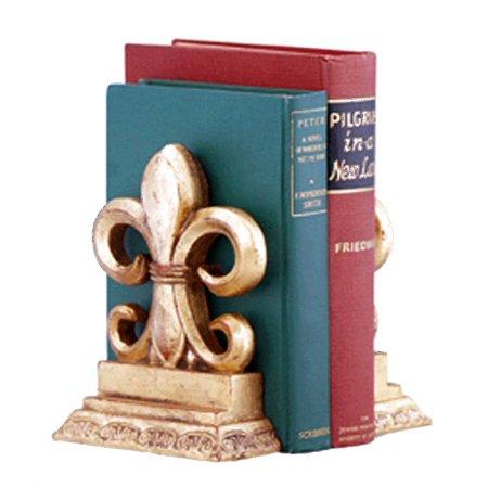 Fleur de lis bookend in antique gold finish set of 2 - Fleur de lis bookends ...