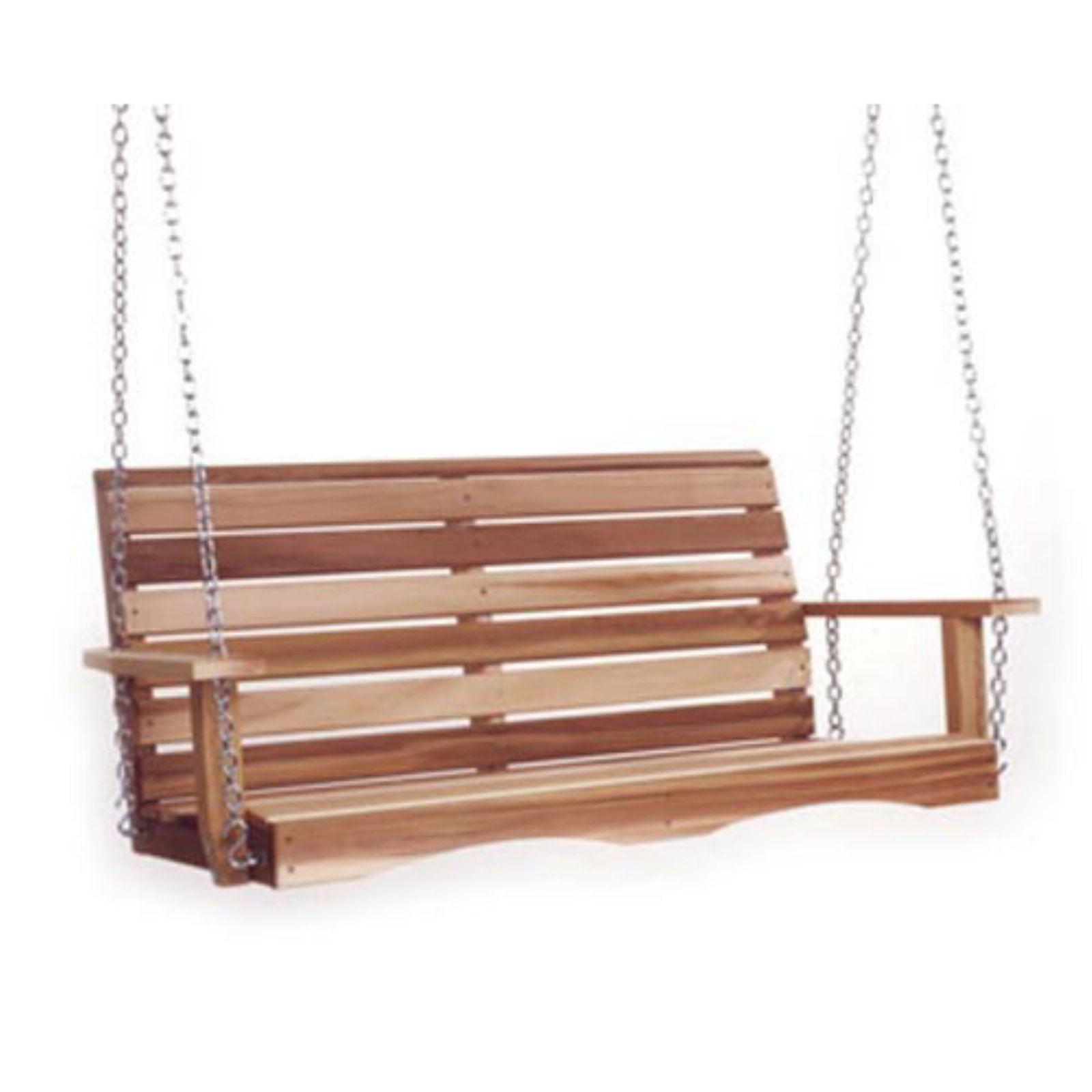All Things Cedar Classic 4 ft. Cedar Porch Swing