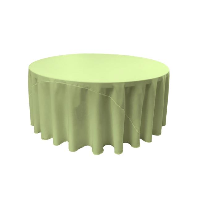 LA Linen TCpop132R-SageP19 Polyester Poplin Tablecloth, Sage 132 in. Round by LA Linen