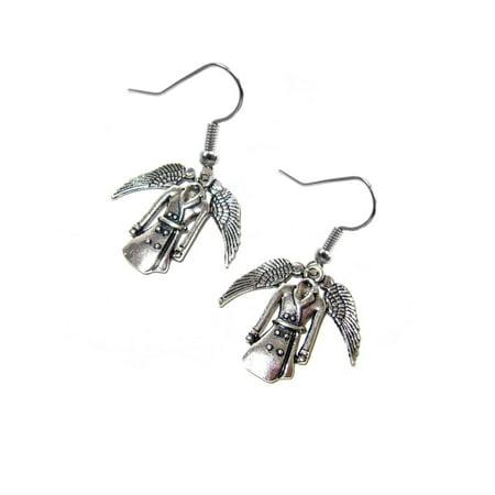 Dangle Jacket - Dangle Earrings Supernatural Castiel's Coat In Gift Box