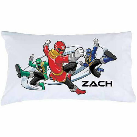 Personalized Printed Pillowcase (Personalized Power Rangers Super Mega Mode Pillowcase )