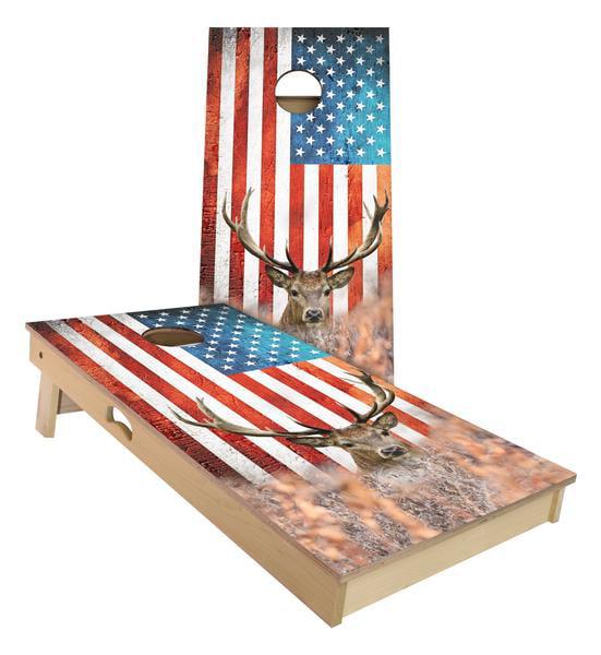 American Big Buck Cornhole Board Set by