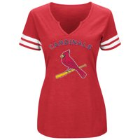 a317be3f778 Product Image Women s Majestic Red White St. Louis Cardinals Decisive  Moment V-Notch T-