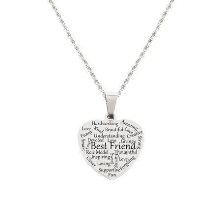 Heart Tag Necklace - Best Friend (Tag Ur Best Friend)