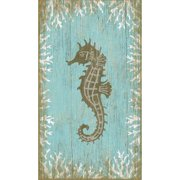 Red Horse Arts Seahorse Left by Suzanne Nicoll Graphic Art Plaque