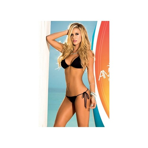 Espiral Black Two Piece Swimsuit 6728 Black