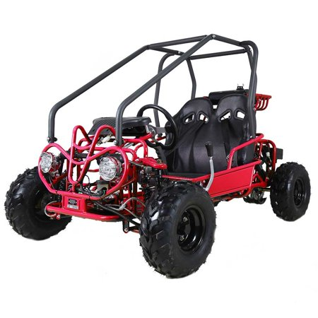 Off Road Go Kart Suspension - Red Taotao GK110 110CC Youth Go Kart, Air Cooled, 4-Stroke, 1-Cylinder, Automatic with Reverse