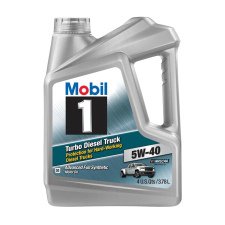 Mobil 1 Turbo Diesel Truck Full Synthetic Motor Oil 5W-40, 1 Gal