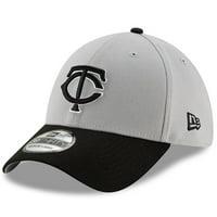 uk availability 90b24 19daf Product Image Minnesota Twins New Era Team Classic 39THIRTY Flex Hat -  Gray Black