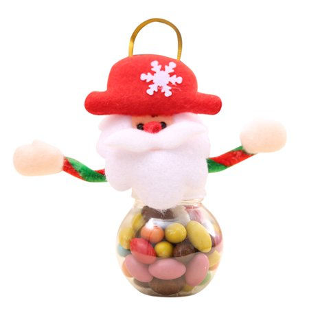 Cute Jars (Cute Christmas Candy Storage Can Decor For Home Gift Biscuit Food Storage)