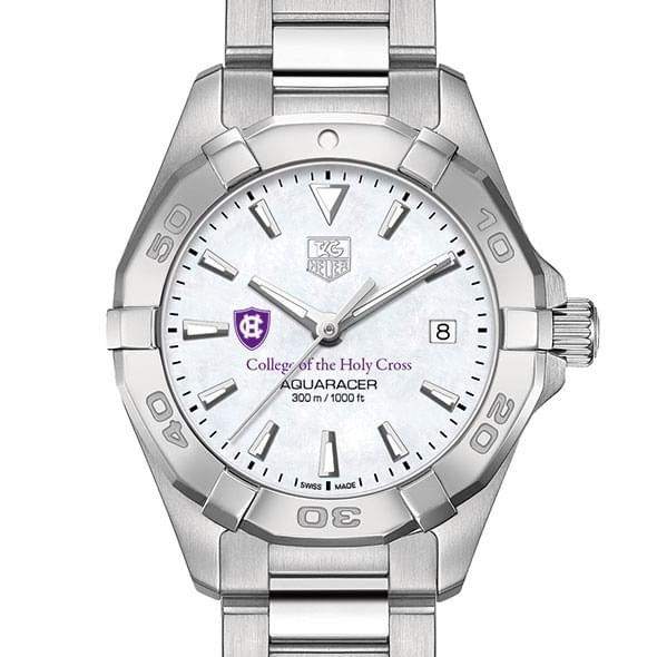Holy Cross Women's TAG Heuer Steel Aquaracer with MOP Dial by Tag Heuer