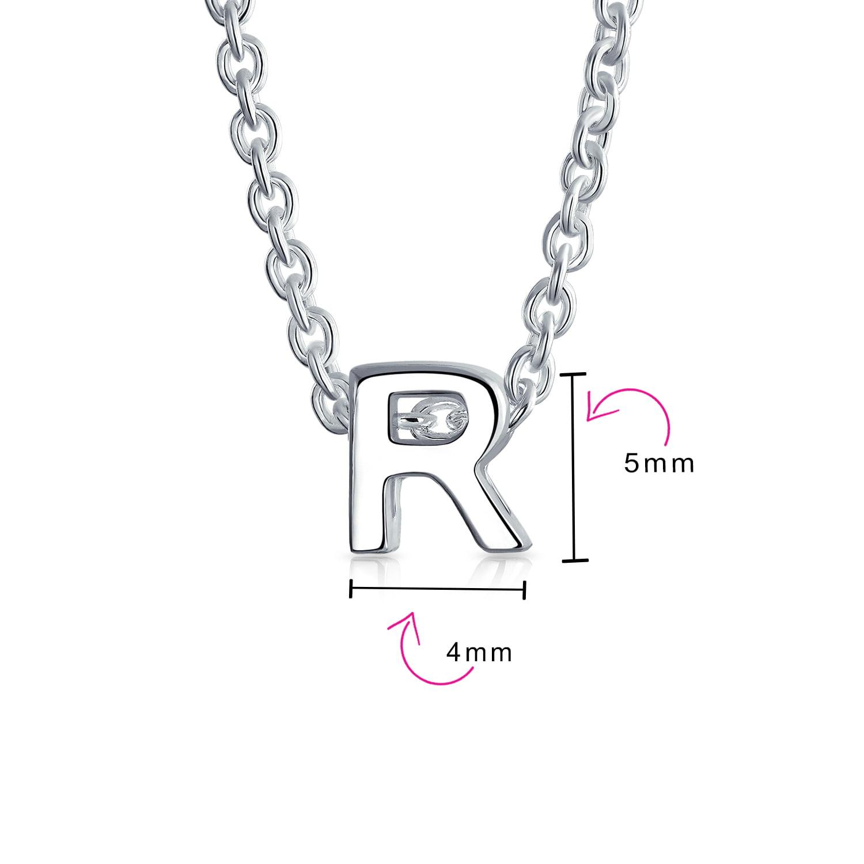 925 Sterling Silver Script Initial L Pendant Alphabet Letter Charm Fashion