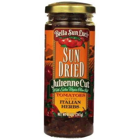 12 PACKS : Bella Sun Luci Sun Dried Julienne Cut Tomatoes, with Extra Virgin Olive Oil and Italian Herbs, Net Wt. 8.5 -