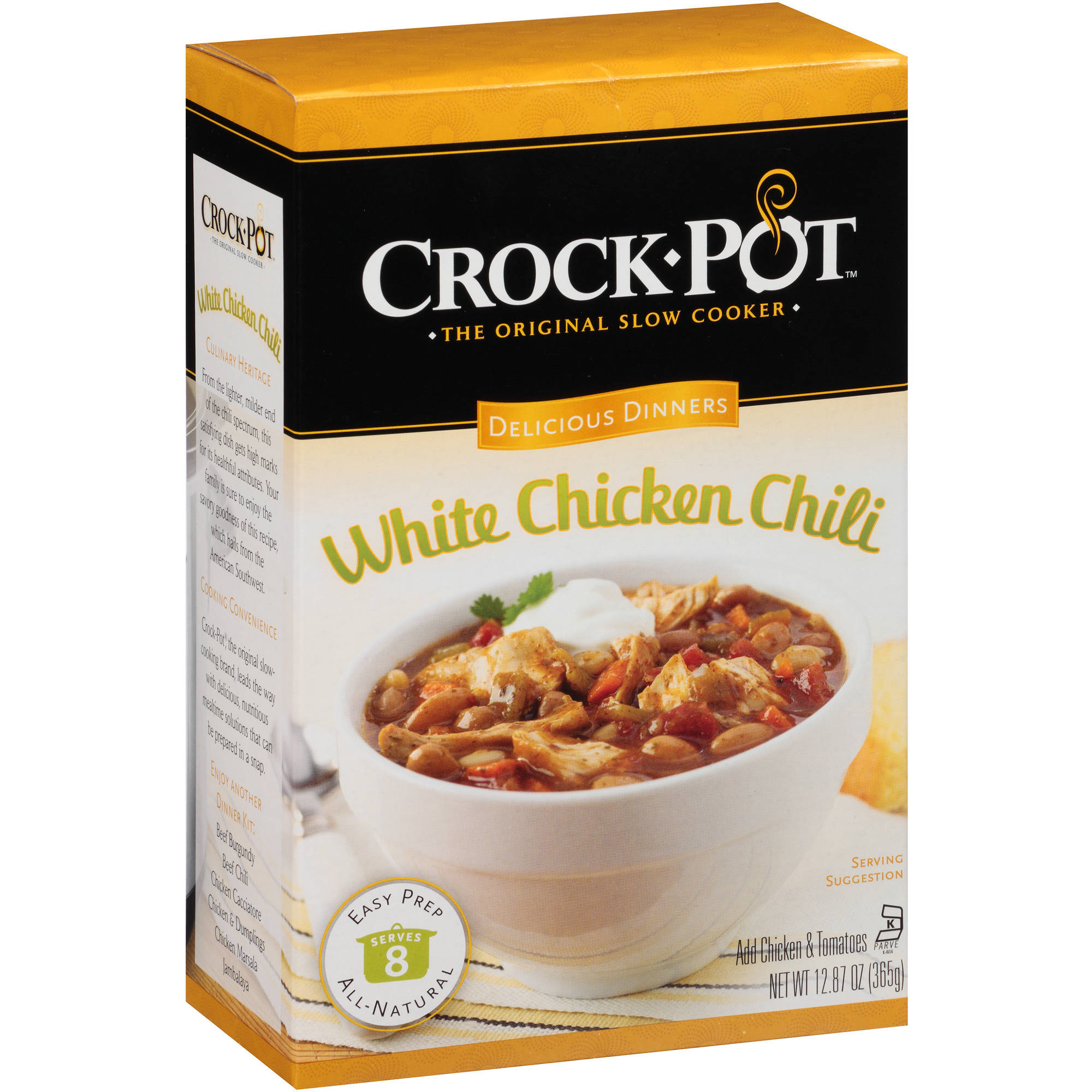 Crock-Pot Delicious Dinners White Chicken Chili Mix, 12.87 oz