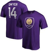 Dom Dwyer Orlando City SC Fanatics Branded Name & Number T-Shirt - Purple