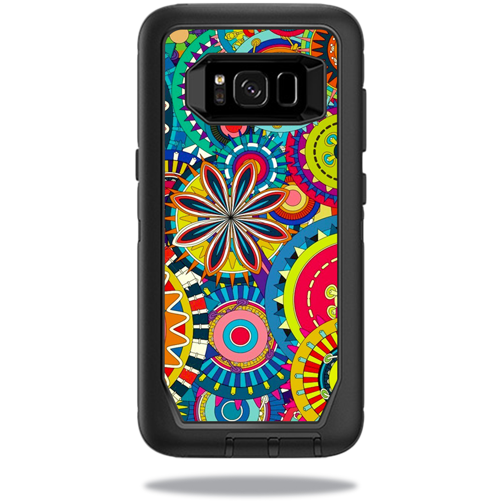 MightySkins Protective Vinyl Skin Decal for OtterBox Defender Samsung Galaxy S8 Case sticker wrap cover sticker skins Flower Wheels