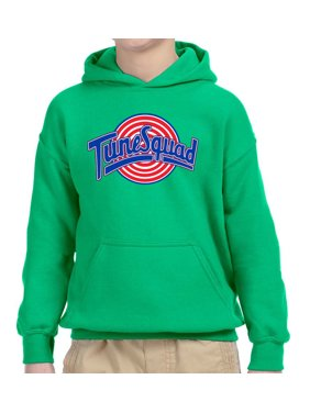 New Way 487 - Youth Hoodie Tune Squad Space Jam Basketball Team Unisex Pullover Sweatshirt Small Kelly Green