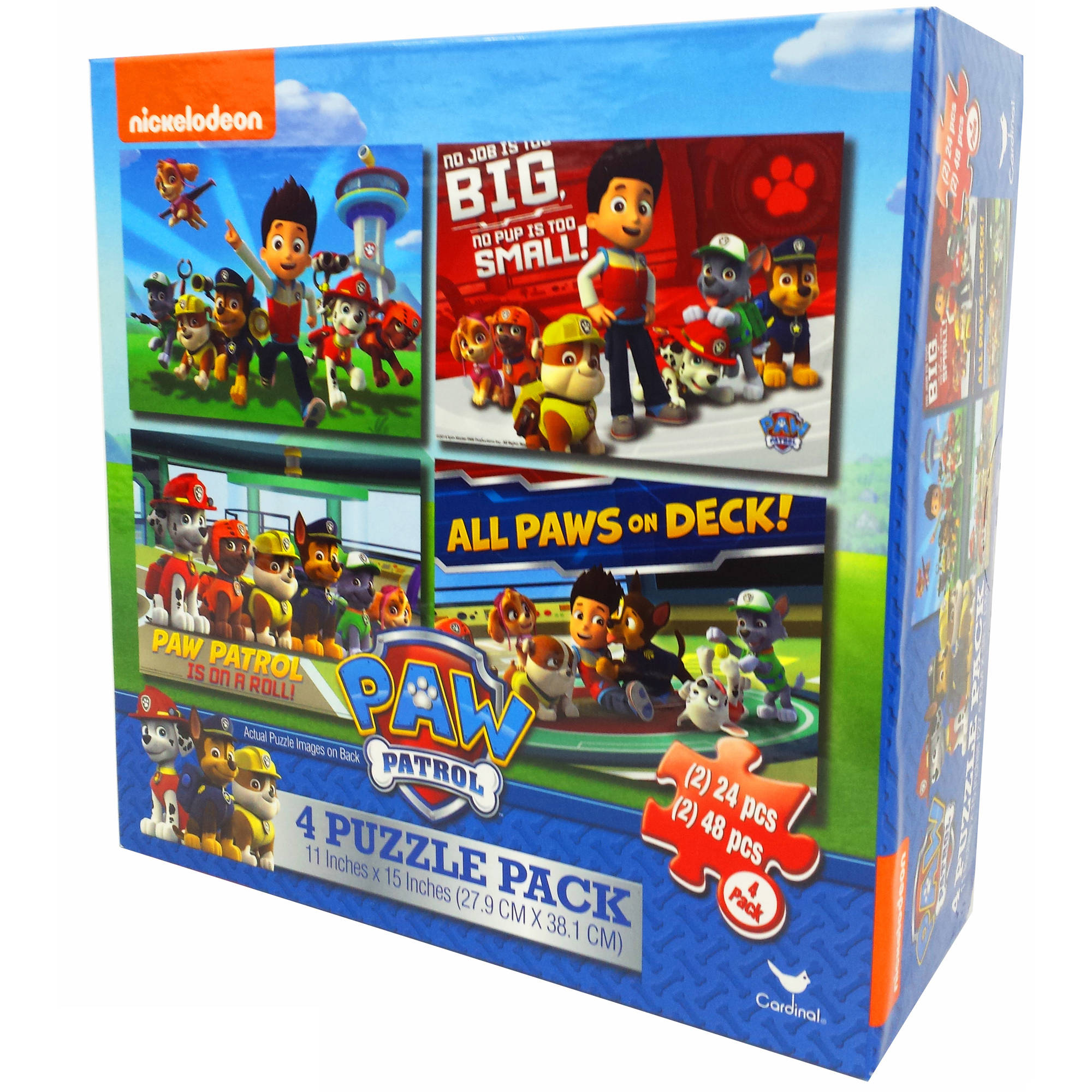 Nickelodeon Paw Patrol 4 Basic Puzzle Box With Rope Handle