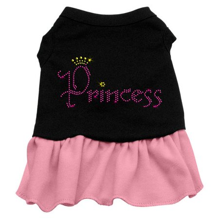 Mirage 57-06 MDBKPK Princess Rhinestone Dog Dress Black With Pink Med ()