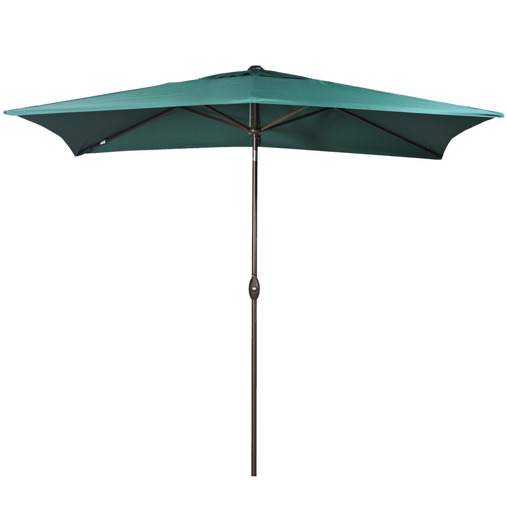 Abba Patio 6.6 by 9.8-Ft Rectangular Market Outdoor Table Patio Umbrella with Push Button... by Abba Patio