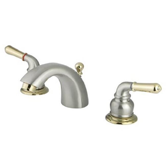 Kingston Br Ks2959 Mini Widespread Lavatory Faucet Satin Nickel Finish With Accents