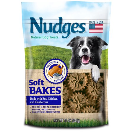 Nudges Soft Bakes with Chicken and Blueberries Dog Treats, 10