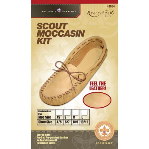Realeather Crafts Leather Kit-Scout Moccasin-Size 6/7