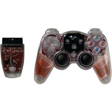 Dreamgear Dgpn-525 Playstation2 Lava Glow Wireless Controller (red)