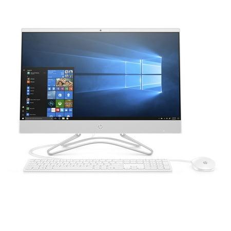 HP 24-F0010 Snow White All in One PC, Intel PentiumJ5005 Processor, 8GB Memory, 1TB Hard Drive, Intel UMA Graphics, Windows 10 (Core+ ),