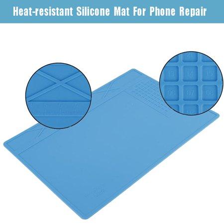 Garosa Coussin à souder, tapis en silicone pour station de réparation de maintenance, support de réparation résistant à la chaleur pour réparation de téléphone, tapis à souder - image 2 de 6