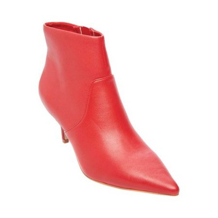 steve madden women's rome ankle boot red leather 8 m us