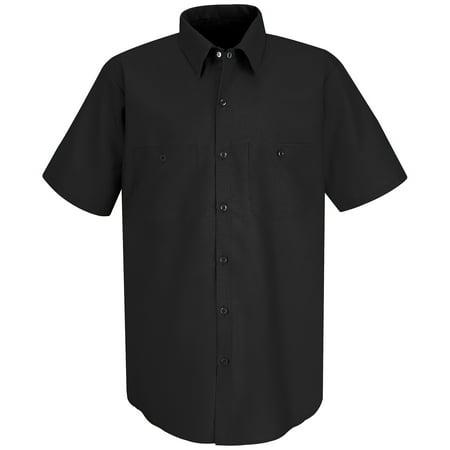 Red Kap Mens Short Sleeve Industrial Work Shirt