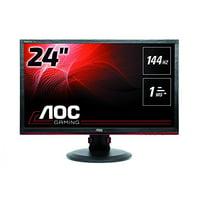 """AOC Gaming G2460PF 24"""" LED LCD Monitor - 16:9 - 1 ms - 1920 x 1080 - 16.7 Million Colors - 350 Nit - 80,000,000:1 - Full HD - Speakers - DVI - HDMI - VGA - DisplayPort - USB - 22.70 W - Black - T"""
