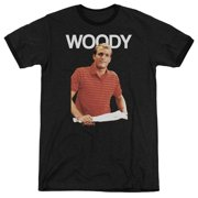 Cheers Woody Mens Adult Heather Ringer Shirt