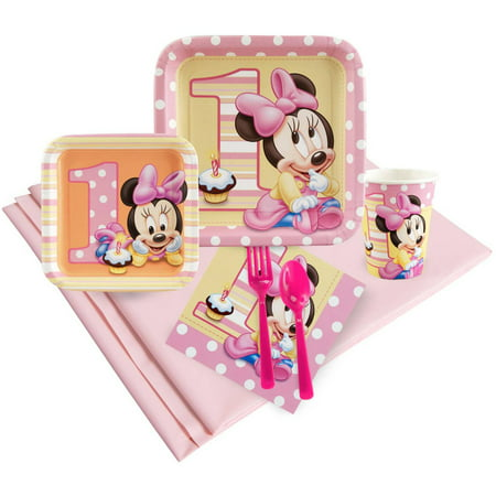 Minnie Mouse 1st Birthday Party Pack - Baby Minnie First Birthday