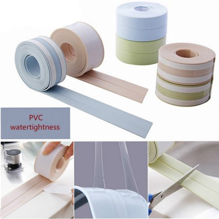 Self Adhesive Mould Proof Sealing Strip Wall Sink Edge Trim Tape Kitchen  Tool