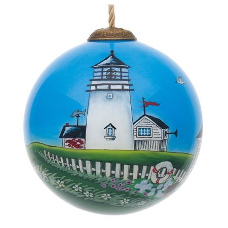 The Holiday Aisle Coastal Lighthouse Ball Ornament