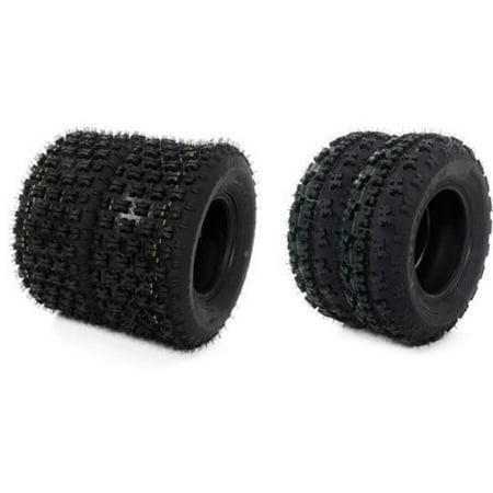 (Zimtown 21x7-10 & 20x10-9 ATV TIRE SET (All 4 Tires) for HONDA TRX 300EX 400EX 400X 450R)