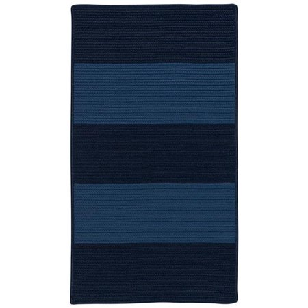 Colonial Mills Rug NW06R024X036S Newport Textured Stripe Rectangle Area Braided Rug  Blue - 2 x 3 ft. - image 1 of 1