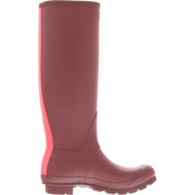 Hunter Women's Original Stripe Dark Rubber Malachite / Tourmaline Knee-High Rubber Dark Rain Boot - 8M da162e