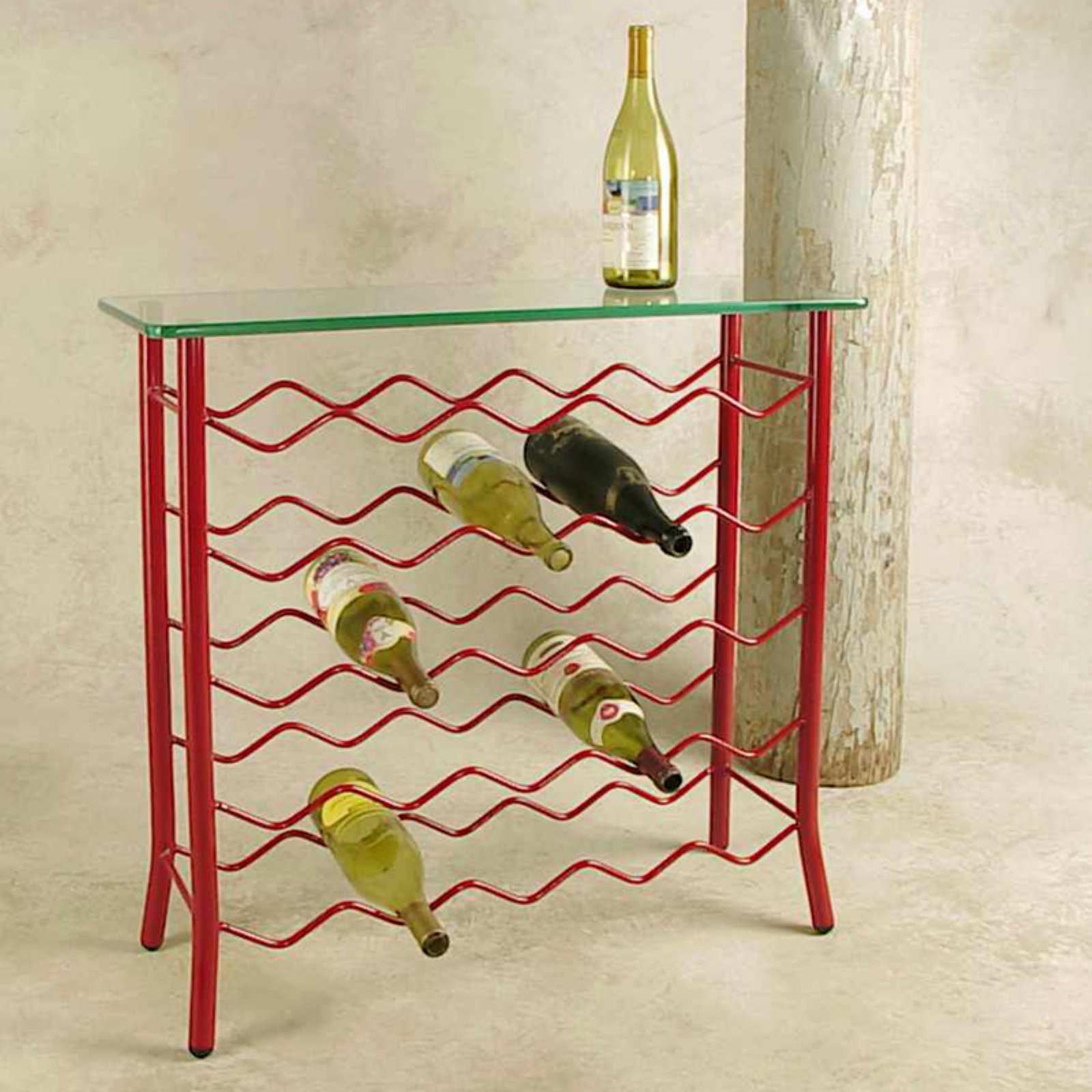 Grace 25 Bottle Wine Rack with Glass Top