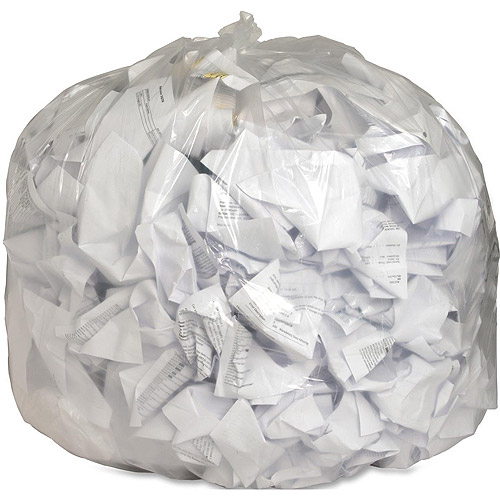 Genuine Joe Low Density Trash Can Liners, Clear, 56 gal, 100 count