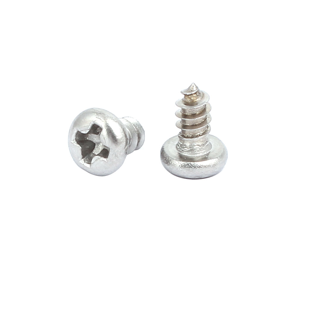 M3x6mm 304 Stainless Steel Phillips Drive Pan Head Self Tapping Screws 250pcs - image 1 de 3